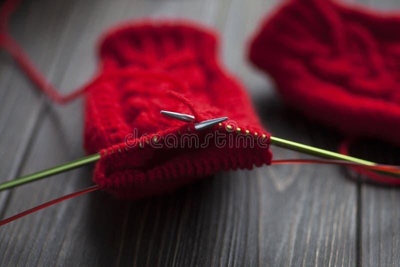 knitting Trabajo hecho a mano Fotograf?a profesional Primer Bokeh fotografía de archivo