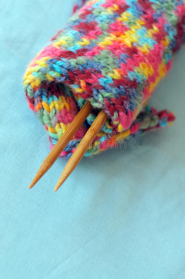 Download Knitting wool stock photo. Image of colour, needles, wool - 30683670