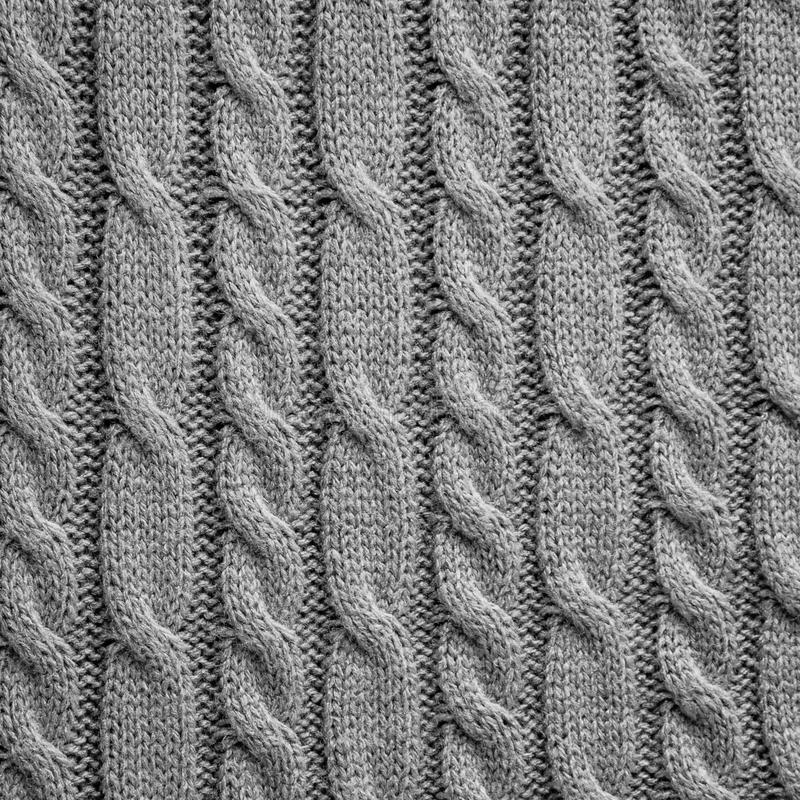 Knitting wool texture background. Gray knitting wool texture background royalty free stock images