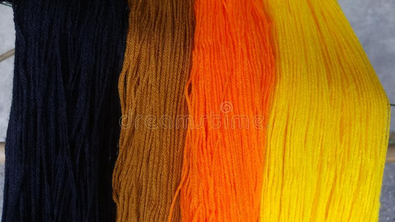 The knitting yarn colorful stock photo
