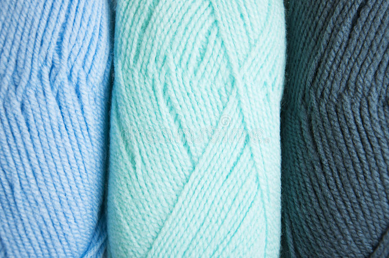 Knitting yarn skeins. Colorful yarn skeins for abstract background royalty free stock photography