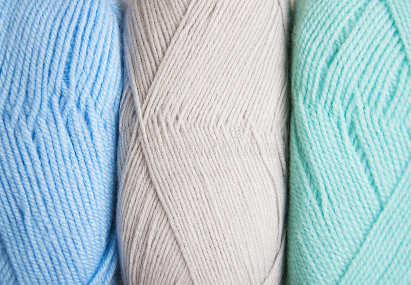 Knitting yarn skeins. Colorful yarn skeins for abstract background royalty free stock photo