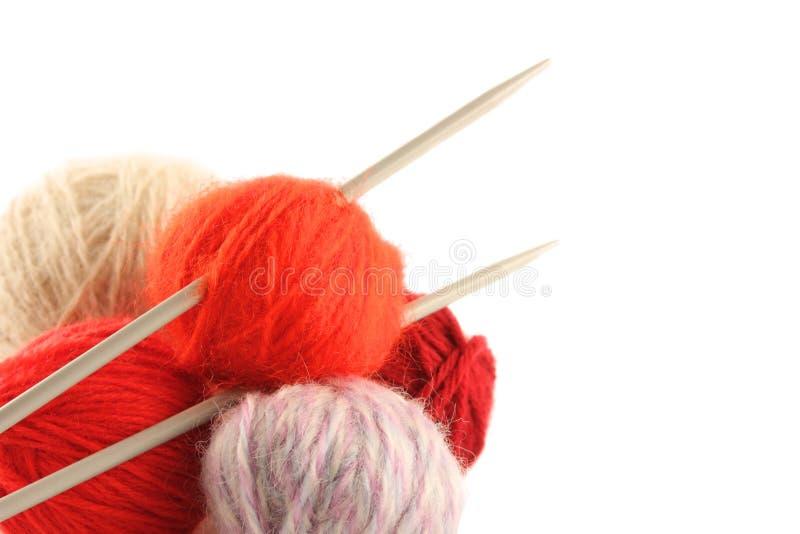 knitting10 royaltyfri bild