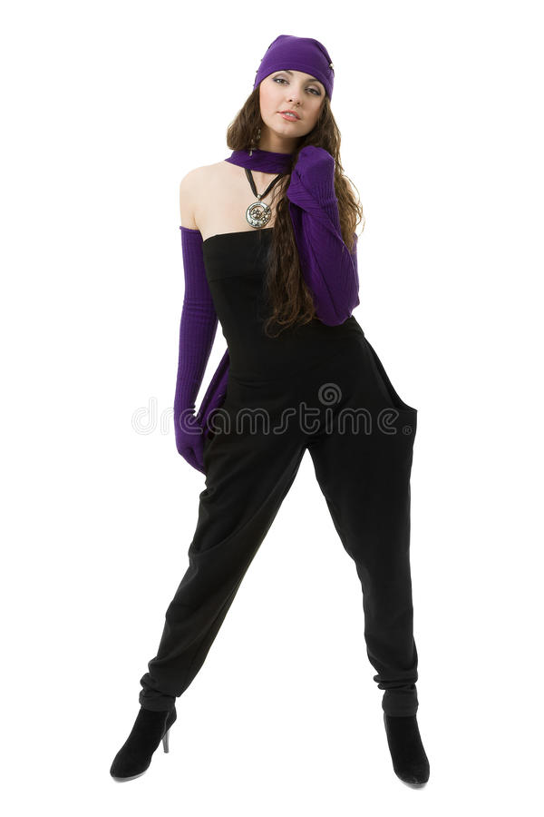 knitwear детеныши женщины зимы крышки нося стоковые изображения rf
