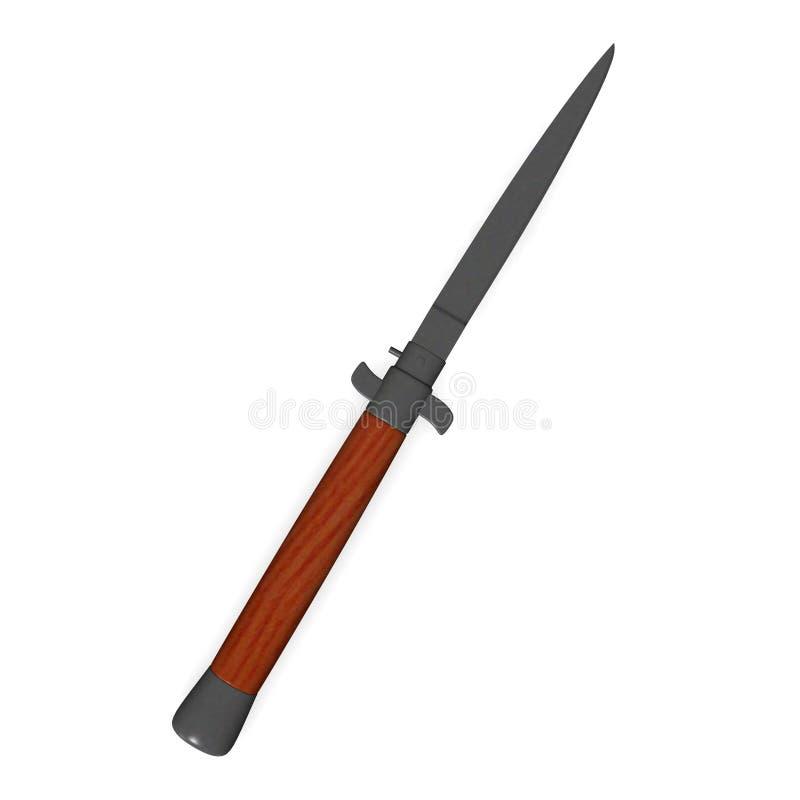 kniv royaltyfri illustrationer