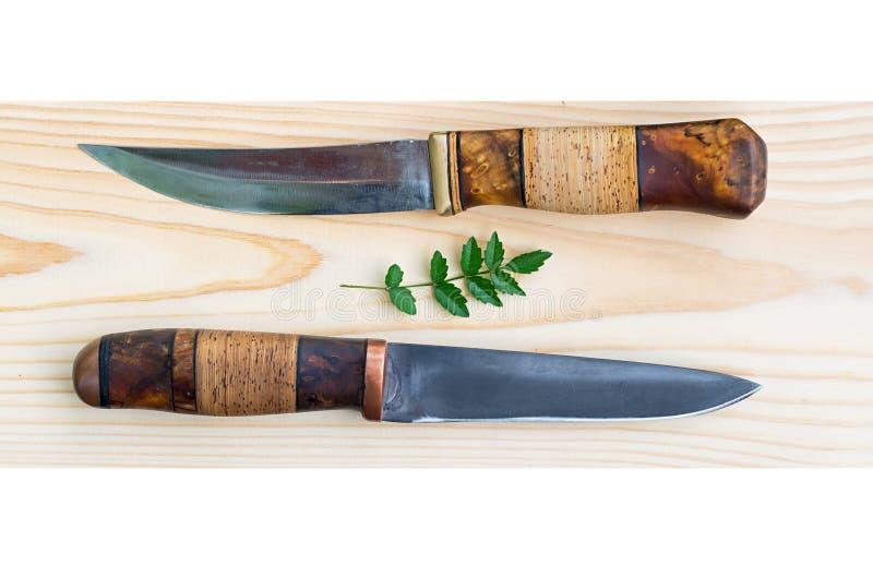 Kniv för jakt två royaltyfri fotografi