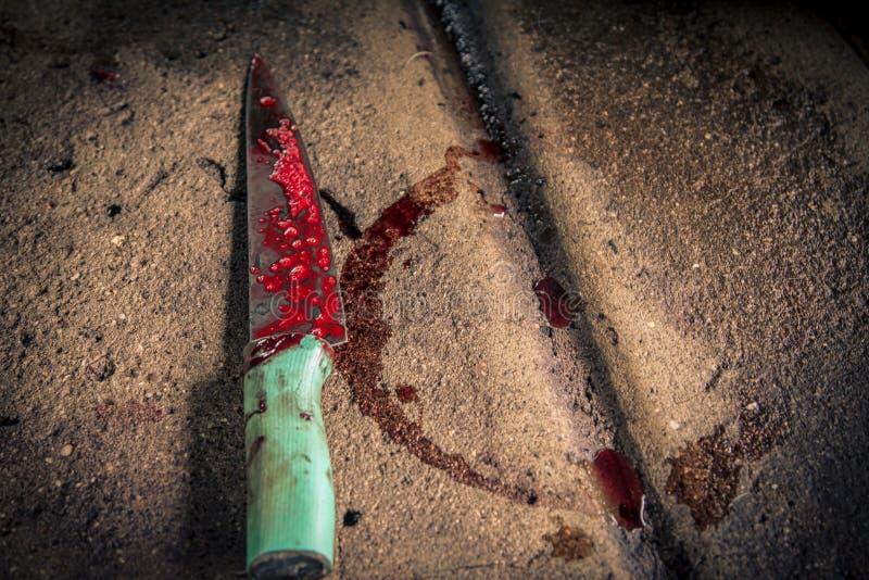 Kniv som används för slakthus fotografering för bildbyråer