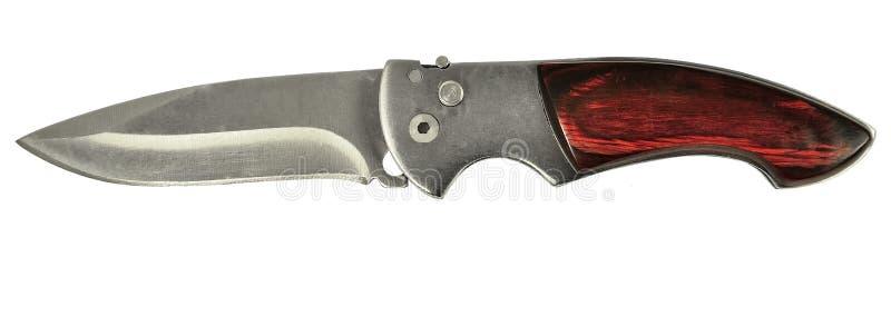 Kniv som isoleras på vit arkivfoto
