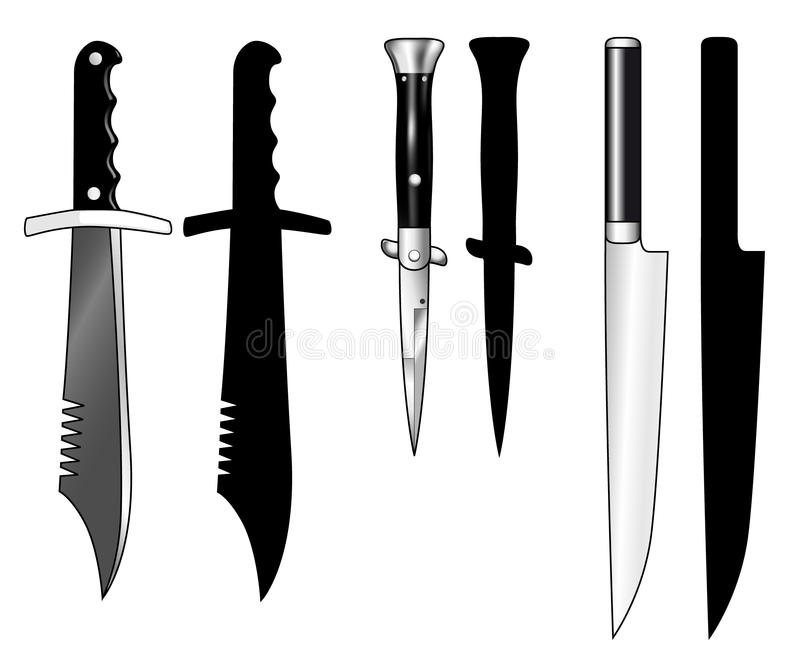 Download Knives - Hunting, Switchblade, Carving Stock Vector - Illustration of switchblade, carving: 20459365