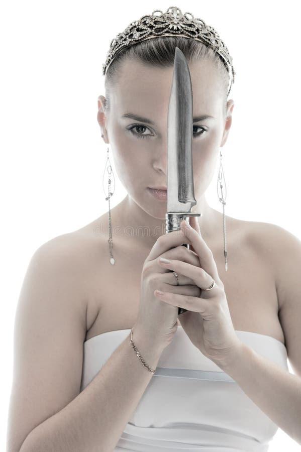 knivkvinna arkivbilder