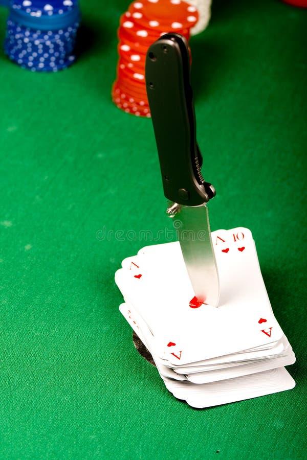knivpoker arkivbild