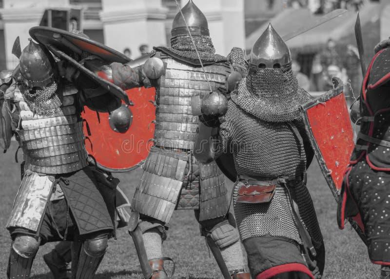 Knivslagsmål royaltyfri bild