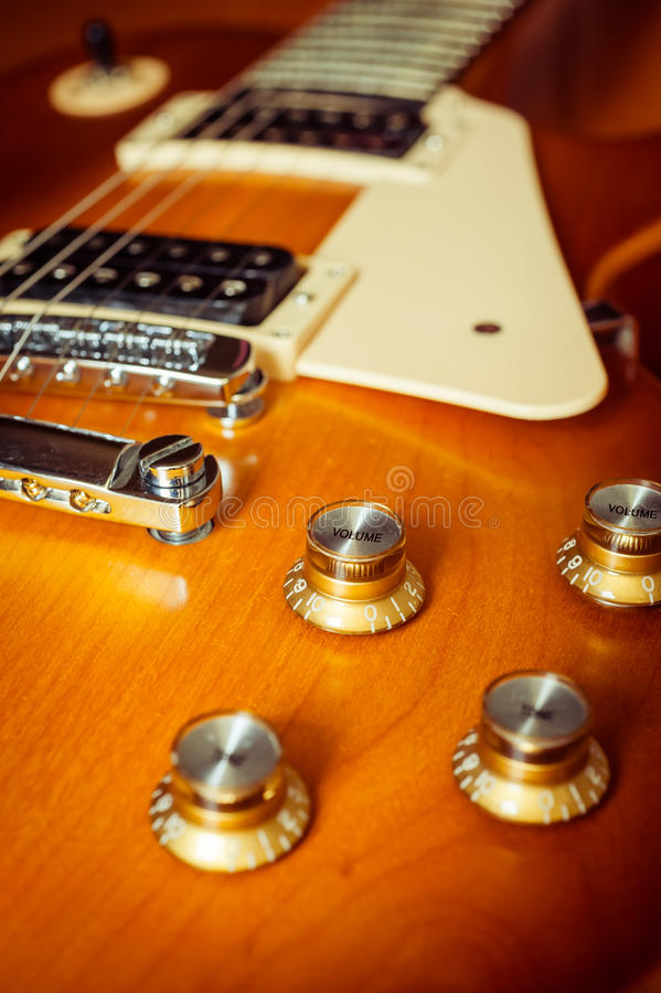 Download Knob Control Of Electric Guitar On Floor Stock Image - Image: 26338021
