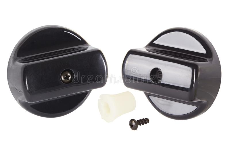 Knob switch. Spare parts for professional coffeee machines. stock image