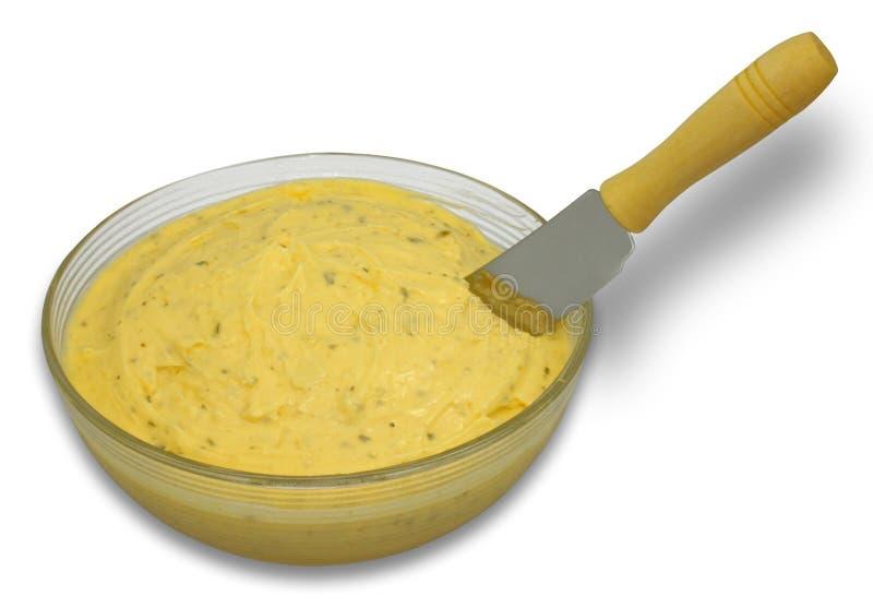 Knoblauch-Margarine-Verbreitung stockfoto