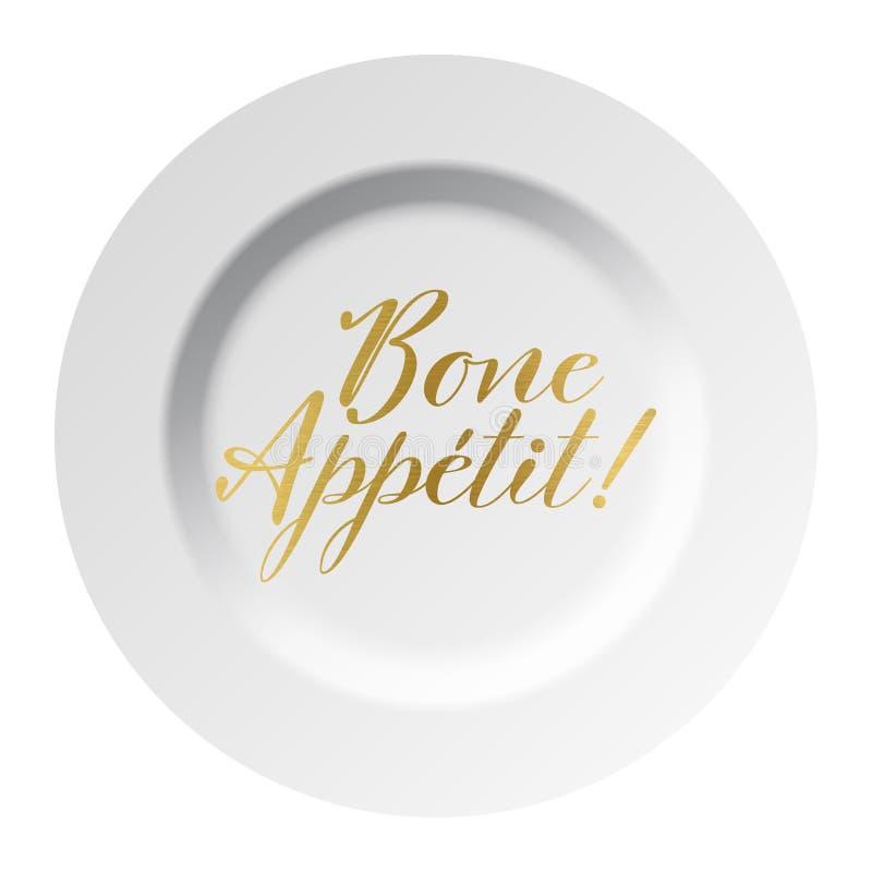 Knochen Appetit-Goldtext lizenzfreie abbildung