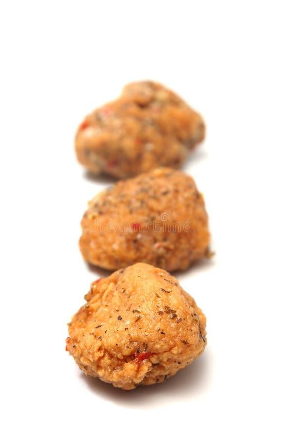 Knochenlose Hühnerflügel stockbild