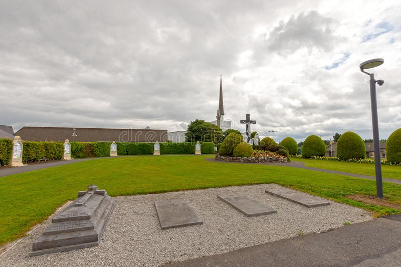 Knock, Mayo, Ireland. Ireland`s National Marian Shrine in Co Mayo, visited by over 1.5 million people each year. Knock Shrine. stock photography
