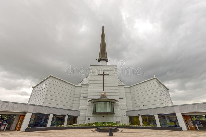 Knock, Mayo, Ireland. Ireland`s National Marian Shrine in Co Mayo, visited by over 1.5 million people each year. Knock Shrine. Knock, Mayo, Ireland - July 17th royalty free stock photos