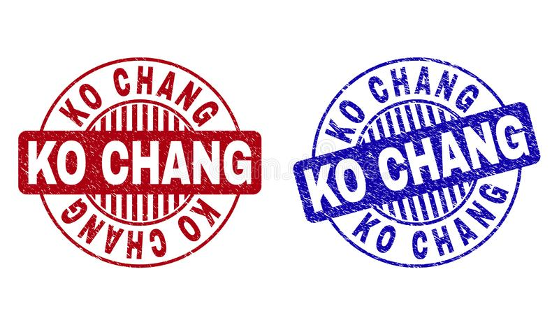 knock-out CHANG Textured Round Stamps del Grunge libre illustration