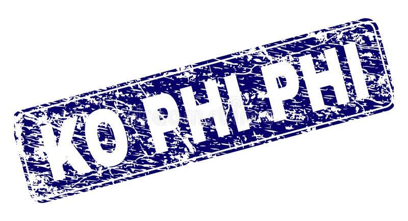knock-out PHI Framed Rounded Rectangle Stamp del Grunge stock de ilustración