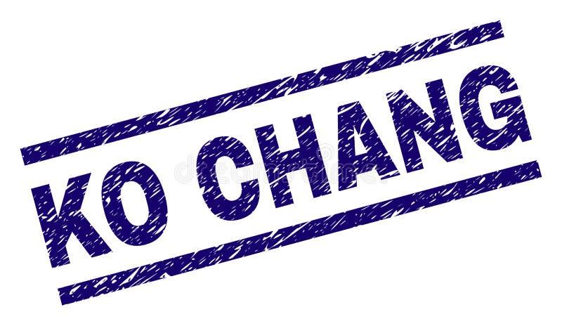 knock-out texturizado Grunge CHANG Stamp Seal ilustración del vector