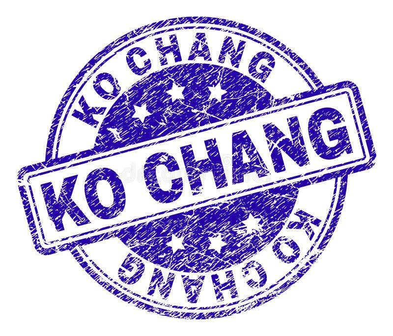 knock-out texturizado rasguñado CHANG Stamp Seal ilustración del vector