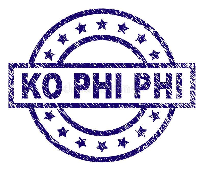 knock-out texturizado rasguñado PHI Stamp Seal libre illustration