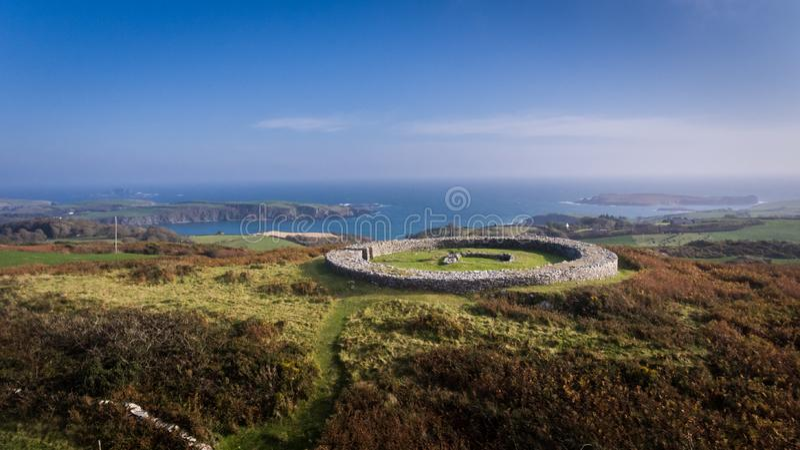 Knockdrum stone fort. county Cork, Ireland royalty free stock images