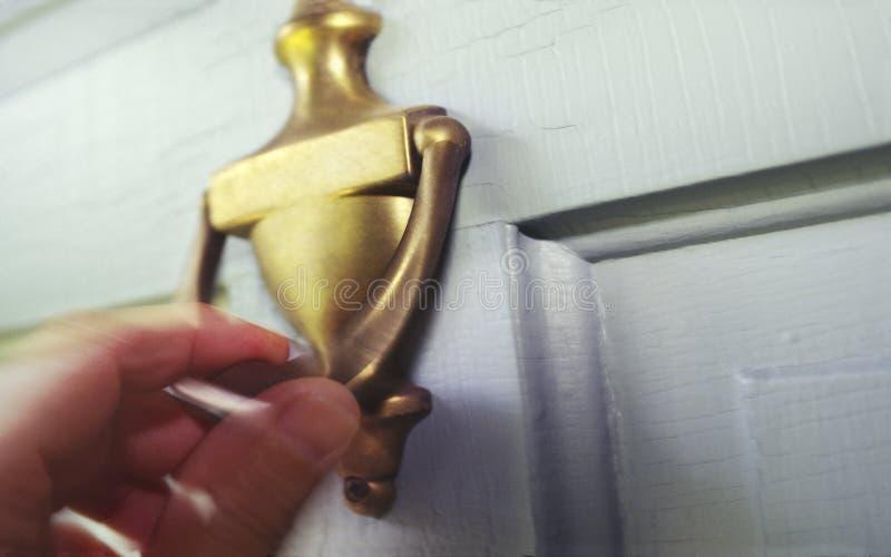 knocker двери стоковое фото