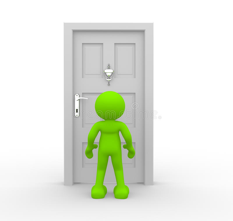 Knocker On Door Royalty Free Stock Images