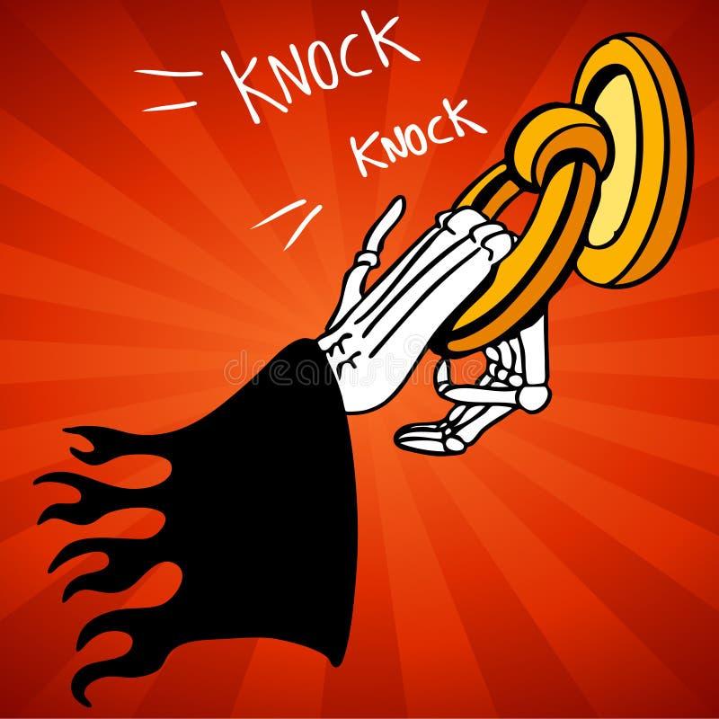 knocker drzwiowa ponura żniwiarka royalty ilustracja