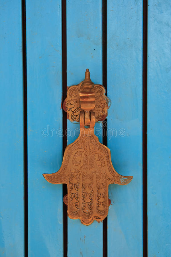 knocker hamsa двери стоковая фотография