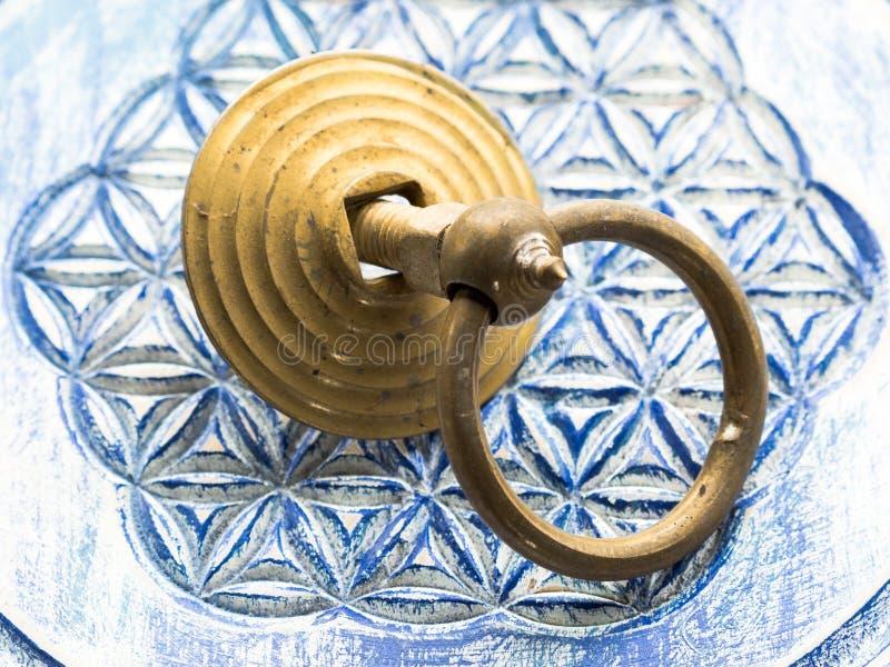 Knocker pierścionek mosiądz obrazy royalty free