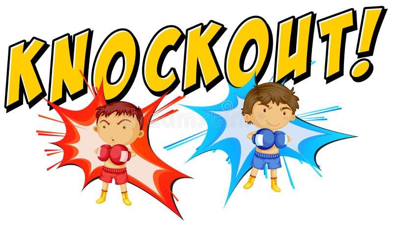 knockout royaltyfri illustrationer