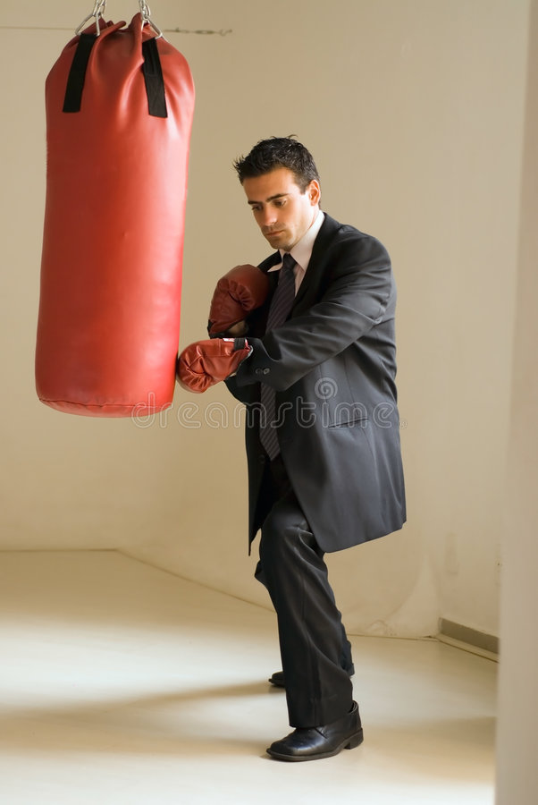 Download Knockout Blow stock image. Image of athlete, indoors, exercising - 5125043