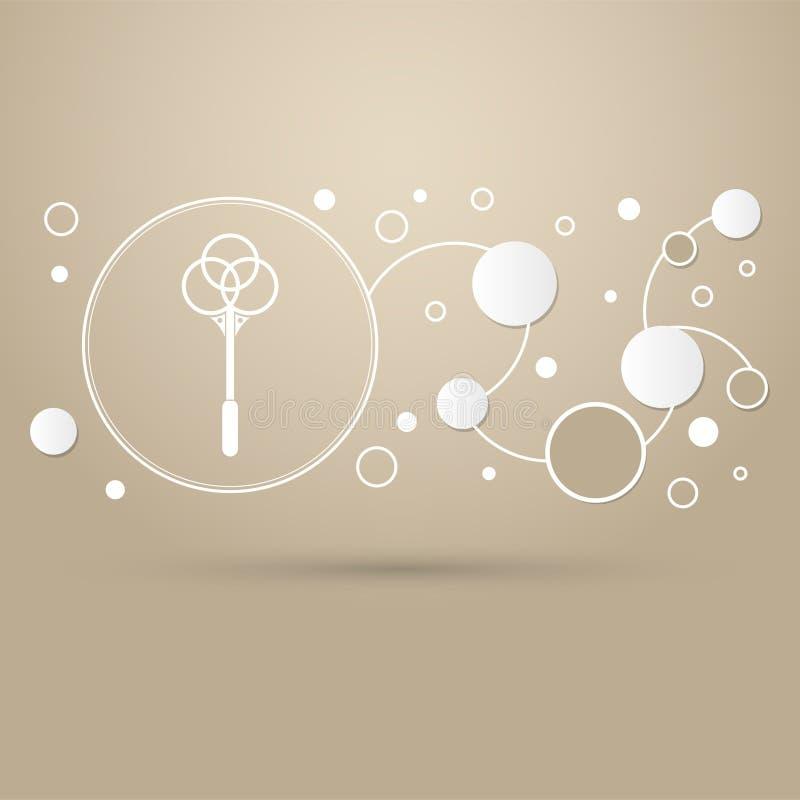 Knockout för mattsymbol på en brun bakgrund med elegant den infographic stil och moderna designen royaltyfri illustrationer