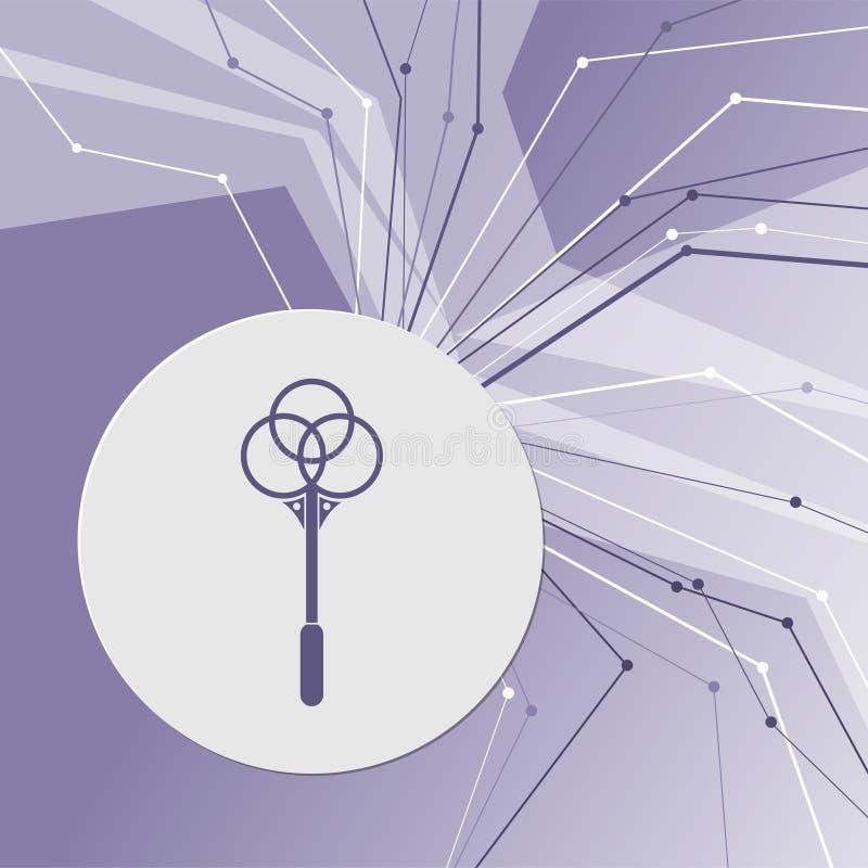 Knockout för mattsymbol på modern bakgrund för lilaabstrakt begrepp Linjerna sammanlagt riktningar Med rum för din advertizing vektor illustrationer