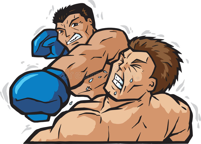 knockout- stansmaskin vektor illustrationer