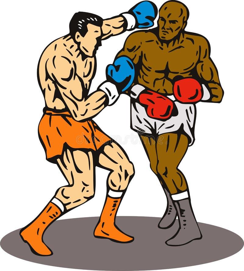 knockout- stansmaskinvinnare för boxning vektor illustrationer