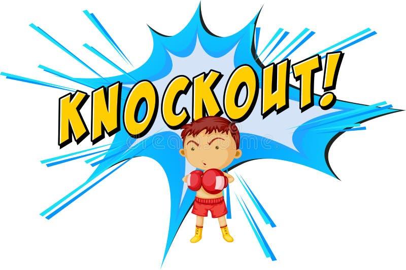 Knockouten stansar royaltyfri illustrationer