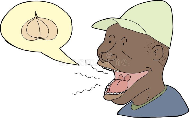 Knoflookadem stock illustratie