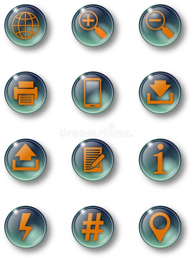 Knoop-glas-Grà ¼ n-02 stock illustratie