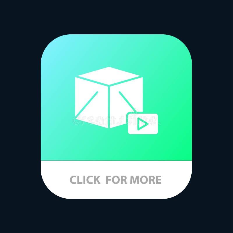 Knoop, Media, Spel, de Knoop van de Doosmobiele toepassing Android en IOS Glyph Versie royalty-vrije illustratie