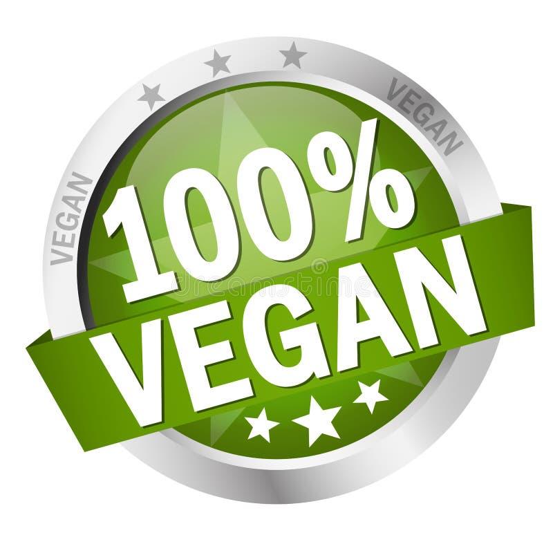 Knoop met Banner100% veganist royalty-vrije illustratie