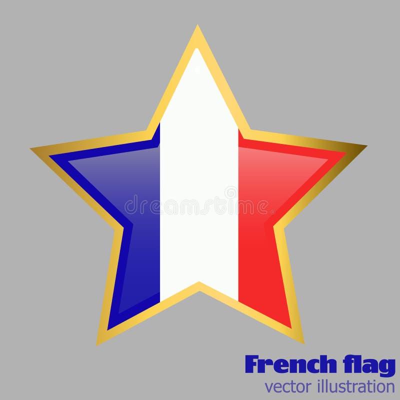 Knoop met vlag van Frankrijk Vector royalty-vrije illustratie