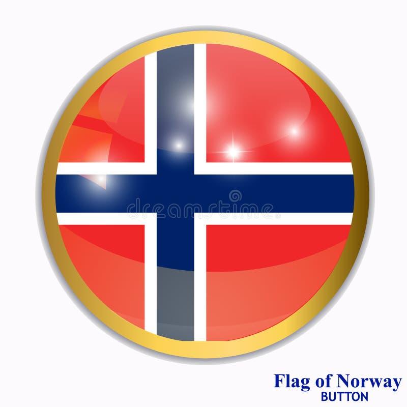 Knoop met vlag van Noorwegen royalty-vrije illustratie
