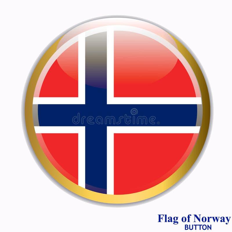 Knoop met vlag van Noorwegen vector illustratie