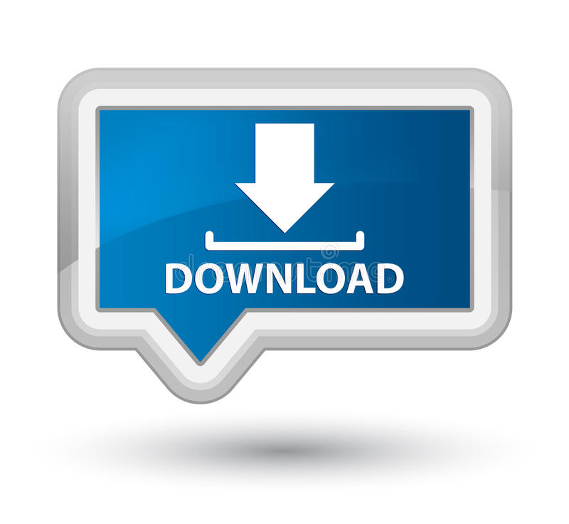 Knoop van de download de eerste blauwe banner stock illustratie