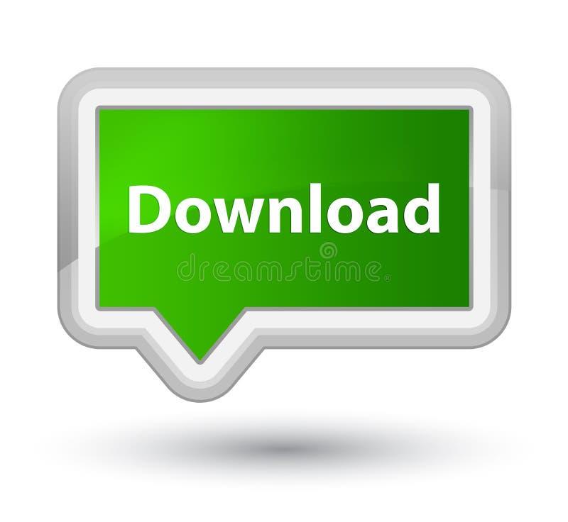 Knoop van de download de eerste groene banner vector illustratie